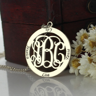 Personalised Monogram Name Necklace Sterling Silver - The Name Jewellery™