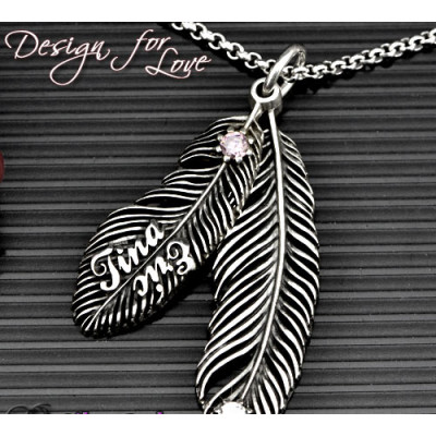 Luxury Feather Series - With Name Jewellery - The Name Jewellery™