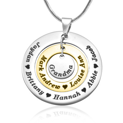 Personalised Circles of Love Necklace - TWO TONE - Gold  Silver - The Name Jewellery™