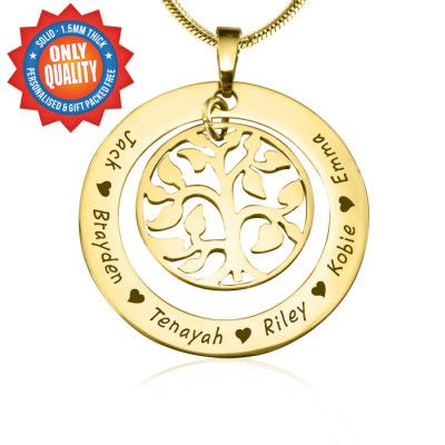 Personalised My Family Tree Necklace - 18ct Gold Plated - The Name Jewellery™