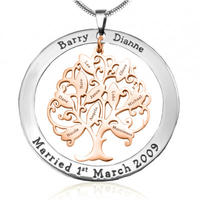 Personalised Tree of My Life Washer 10 - Two Tone - Rose Gold Tree - The Name Jewellery™