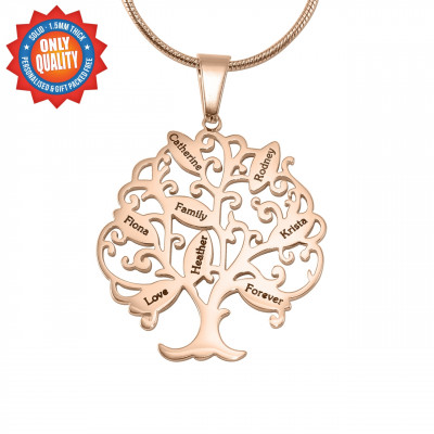 Personalised Tree of My Life Necklace 8 - 18ct Rose Gold Plated - The Name Jewellery™