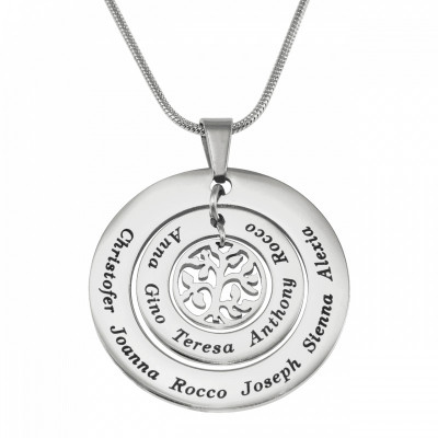 Personalised Circles of Love Necklace Tree - Silver - The Name Jewellery™