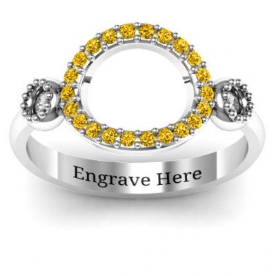 3 Circles Karma Ring with Accents - The Name Jewellery™