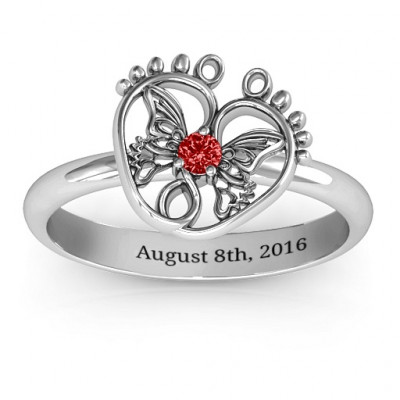 Butterfly Baby Foot Ring - The Name Jewellery™