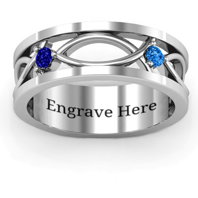 Classic Fish Men's Ring - The Name Jewellery™