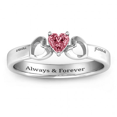 Darling Heart Wraparound Ring - The Name Jewellery™
