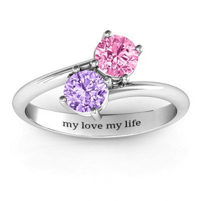 Destined For Love Double Gemstone Ring - The Name Jewellery™