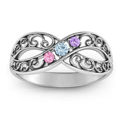 Forever Filigree Infinity Ring - The Name Jewellery™