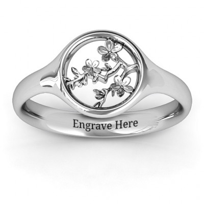 Full Circle Cherry Blossom Ring - The Name Jewellery™