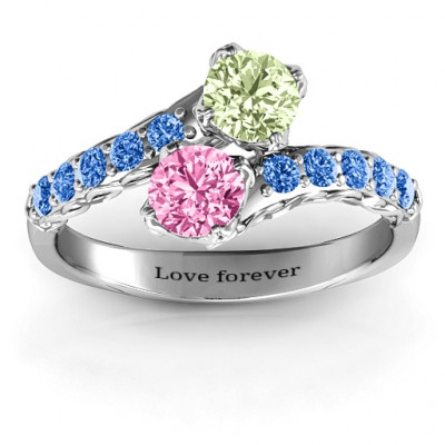 Intricate Infinity Two Stone Ring - The Name Jewellery™