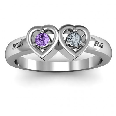 Kissing Hearts Ring - The Name Jewellery™