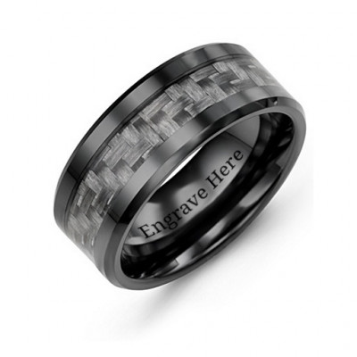 Men's Nightfall Ceramic Ring - The Name Jewellery™