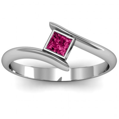 Princess Cut Bypass Ring - The Name Jewellery™