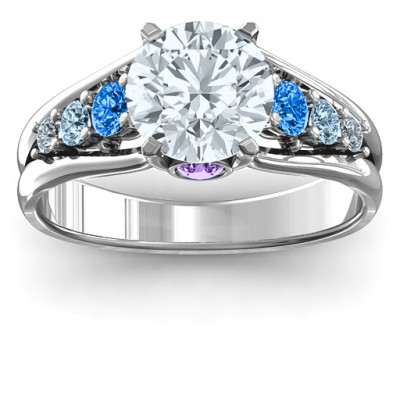 Radiant Love Ring with Collar Gems - The Name Jewellery™