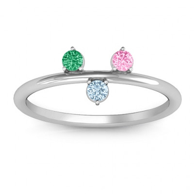 Stackable Sparkle 1-5 Stone Ring - The Name Jewellery™