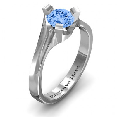 Sterling Silver Beloved Tri-Set Ring - The Name Jewellery™