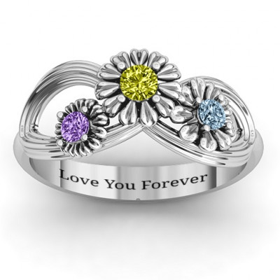 Sterling Silver Endless Spring Infinity Ring - The Name Jewellery™