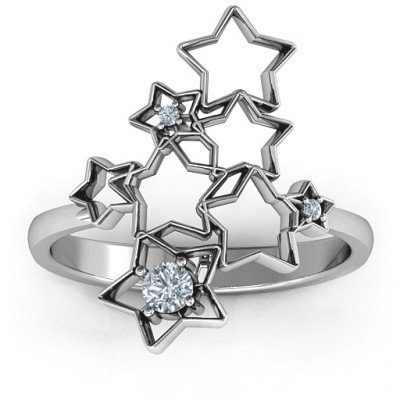 Sterling Silver Sparkling Constellation Ring - The Name Jewellery™
