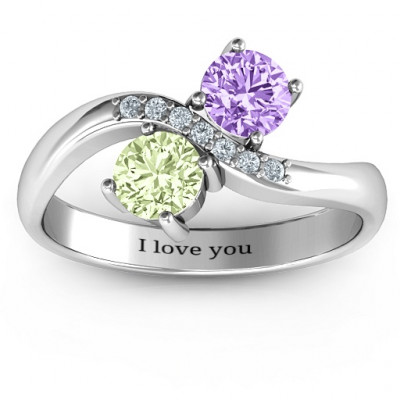 Storybook Romance Two Stone Ring - The Name Jewellery™