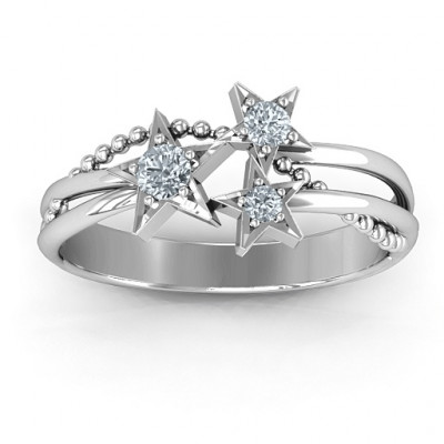 Twinkling Starlight Ring - The Name Jewellery™
