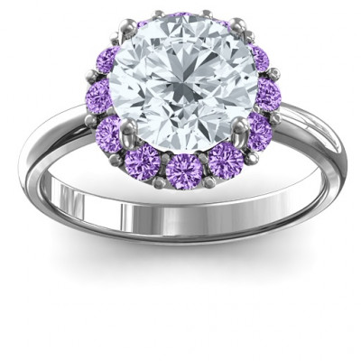 Victoria Single Halo Ring - The Name Jewellery™