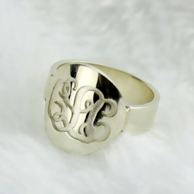 Make Your Own Monogram Itnitial Ring Sterling Silver - The Name Jewellery™