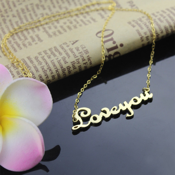 7eb9679cb13 Personalised Cursive Name Necklace 18ct Gold Plated - The Name Jewellery™