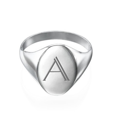 Initial Signet Ring in Sterling Silver - The Name Jewellery™