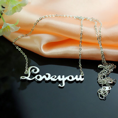 Personalised Sterling Silver Cursive Name Necklace - The Name Jewellery™
