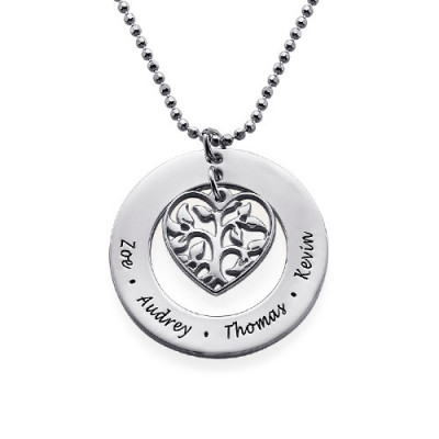 Gifts for Mum - Heart Family Tree Necklace - The Name Jewellery™