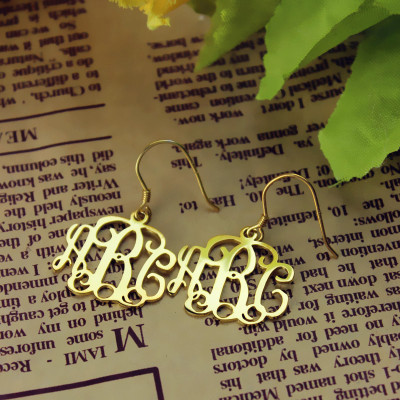 18ct Solid Gold Personalised Monogram Earring - The Name Jewellery™