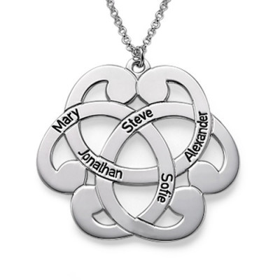 Silver Engraved Arabesque Necklace - The Name Jewellery™