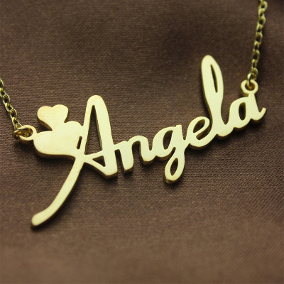 270dcd1a77111 Personalised Solid Gold Fiolex Girls Fonts Heart Name Necklace - The Name  Jewellery™
