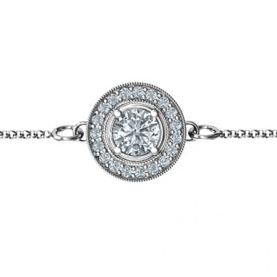 Personalised Halo and Accents Bracelet - The Name Jewellery™