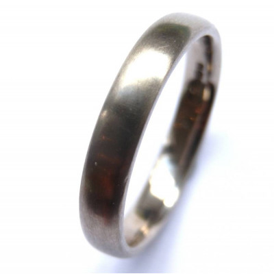 Mens 18ct White Gold Wedding Ring - The Name Jewellery™
