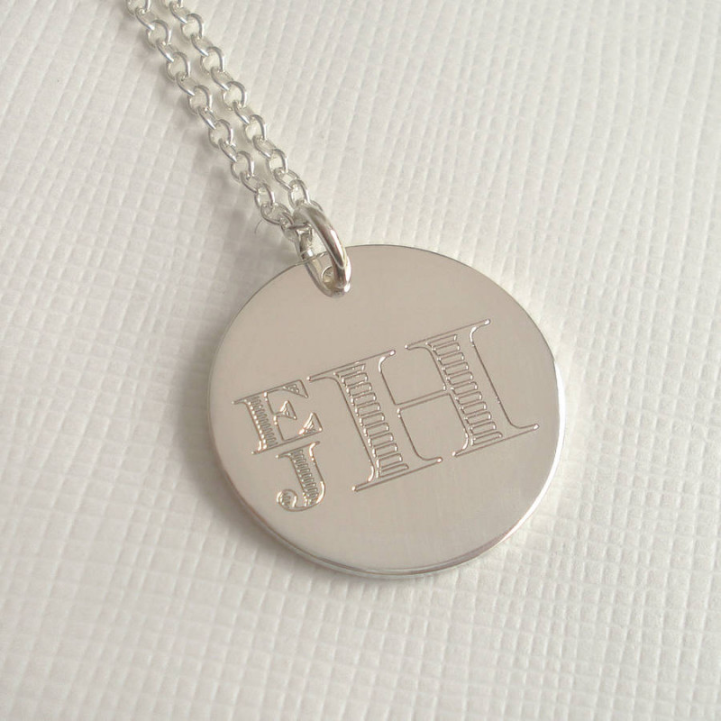 8687a8397bb Mens Engraved Monogram Stacked Necklace - The Name Jewellery™